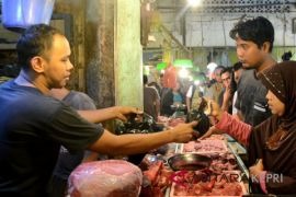 H-2 lebaran harga daging sapi Rp150 ribu