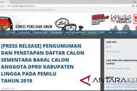 KPU Lingga gunakan blog gratis umumkan DCS