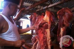 Di Lampung Timur harga daging tembus Rp135 ribu/Kg
