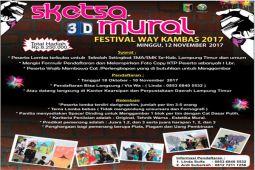 Sketsa 3D Mural Meriahkan Festival Way Kambas