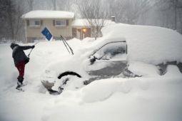 Pascabadai salju, suhu makin brutal