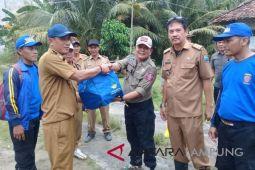 Korban banjir Sragi terima bantuan Dinsos Lampung