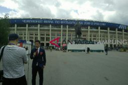Stadion Luzhniki dijaga amat ketat