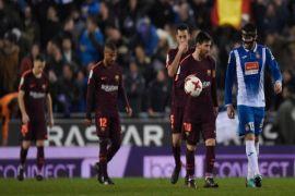 Barcelona keok dari Espanyol di Piala Raja