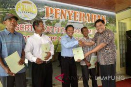 CP Prima serahkan sertifikat lahan petambak