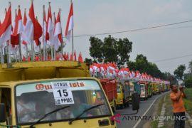 Lampung Timur meriahkan HUT Kemerdekaan dengan Merah Putih