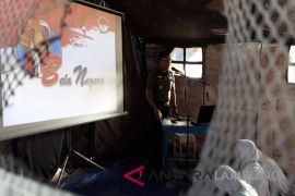 BUMN Hadir - peserta SMN Gorontalo ikut pelatihan bela negara
