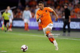 Penyerang Belanda Arnaut Groeneveld cetak gol pertama