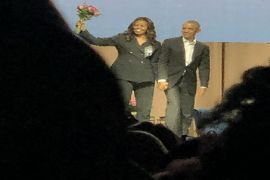 Bunga dari Barack Obama untuk istrinya