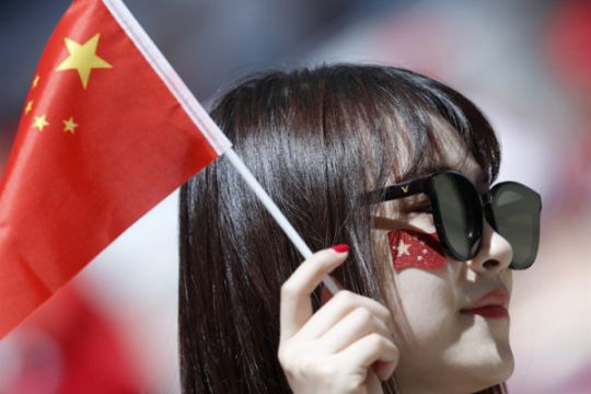 Mencengangkan ! Meski tanpa tim, tetapi dipenuhi pendukung perempuan asal China