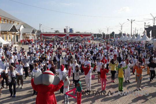 BUMN Hadir - Peserta SMN ikut lomba peringatan Kemerdekaan RI