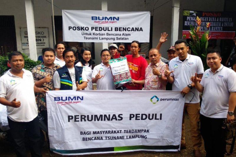 Perumnas salurkan bantuan untuk korban tsunami