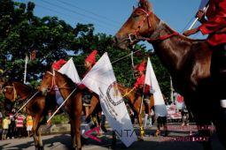 Jalan sehat warnai kampanye damai Sulsel