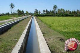bupati resmikan jaringan irigasi tingkatkan produksi pertanian