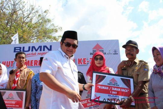 BUMN Hadir - PT Semen Indonesia terangi MCK sebagai CSR Jeneponto