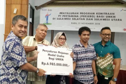 Pertamina salurkan Rp6,9 miliar untuk UMKM Sulawesi