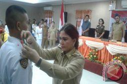 30 Siswa Se- Minahasa Utara Di Daulat Pasukan Paskibra