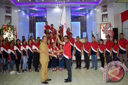 Wali Kota Lomban Lepas Tim Pesparawi Bitung