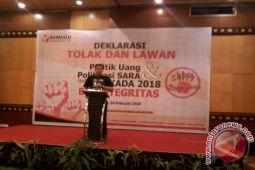 Bawaslu Sulut gelar deklarasi tolak politik uang
