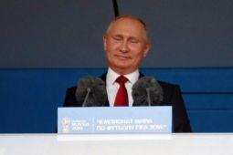 Piala Dunia - Rusia euforia sambut kemenangan perdana sempurna di Piala Dunia