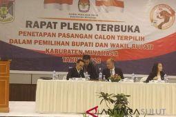 KPU Minahasa sukses plenokan penetapan bupati dan wabup terpilih