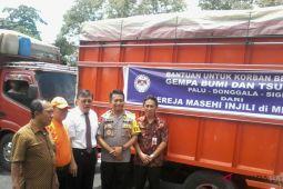 Kapolda lepas bantuan kemanusiaan korban bencana Sulteng