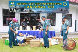 Lantamal Manado  musnahkan barang bukti minuman beralkohol