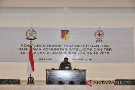 Penataran hukum humaniter Kodam XIII Merdeka berakhir