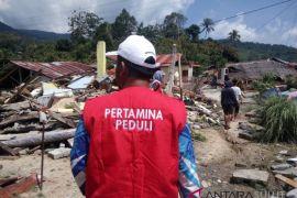 Relawan Pertamina tembus 36-titik longsor bantu pengungsi Palu-Donggala