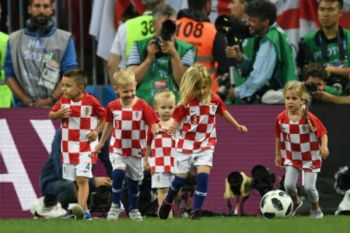 Piala Dunia - Anak pemain Kroasia rayakan kemenangan