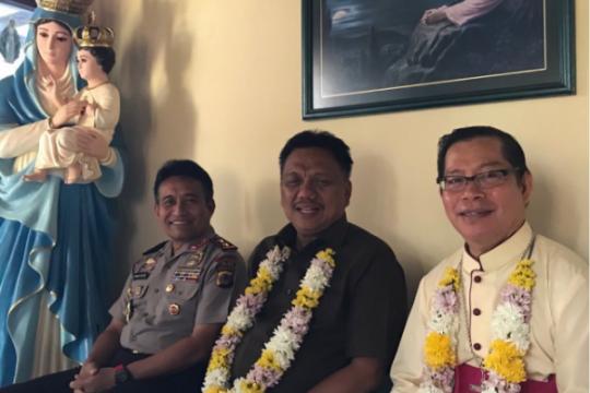 Gubernur, Uskup Manado dan Kapolda Sulut
