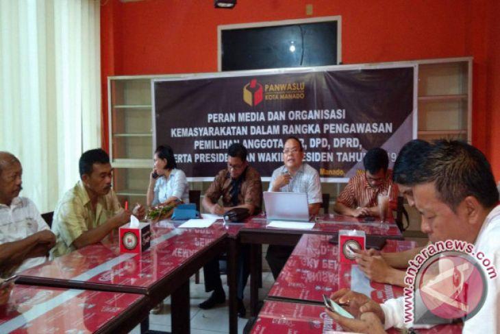Panwaslu Manado Ajak Media dan Masyarakat Awasi Pemilu
