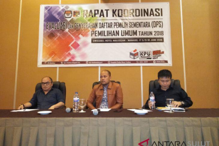 KPU Minahasa laksanakan rakor evaluasi dan penyerahan DPS