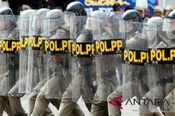 Satpol PP Mataram menyiapkan personel pengamanan nyepi