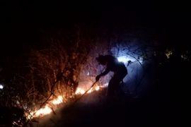 Taman Nasional Tambora terbakar