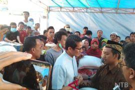 Sandiaga Uno tinjau korban gempa Lombok