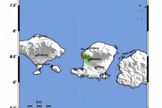 Gempa Bumi 3,8 skala Richter guncang Lombok Utara
