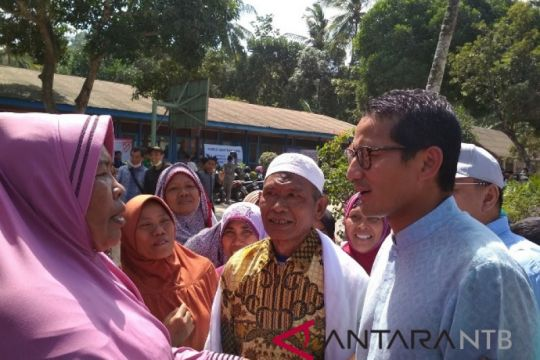 Sandiaga Uno sumbang Rp2,3 miliar korban gempa Lombok