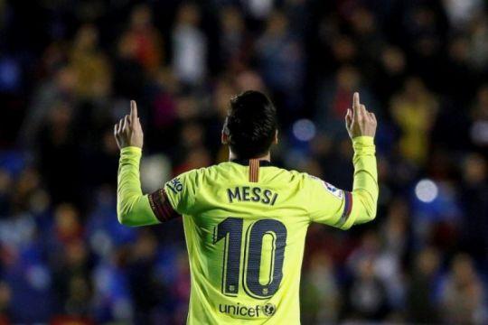 Messi cetak hat-trick, Barcelona bungkam Levante 5-0