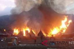 Kerugian akibat terbakarnya kampung adat Gurusina ditaksir Rp5,4 miliar