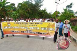KPU kampanye keliling pilkada di Jayawijaya