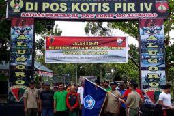 Warga perbatasan RI-PNG olahraga massal peringatan Sumpah Pemuda