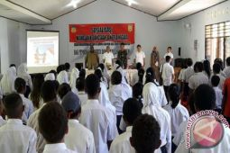 Ratusan pelajar SMP Jayapura ikut sosialisasi wawasan kebangsaan