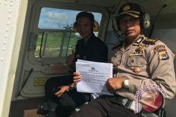 Polda Papua sebarkan maklumat untuk KKB melalui helikopter