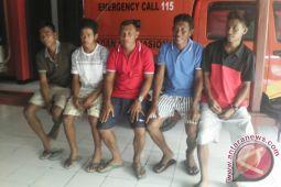 Lima nelayan Sangihe pulang ke kampung halaman