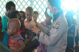 Satgas obati penderita campak Distrik Aip Asmat