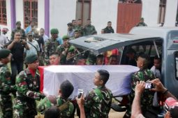 Jenazah prajurit TNI korban penembakan KKB