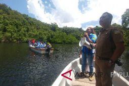 Peserta SMN Aceh kunjungi hutan bakau di Hamadi