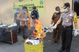 Polres Jayapura musnahkan ganja seberat 392 gram