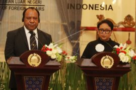 Pertemuan Menlu RI dan PNG